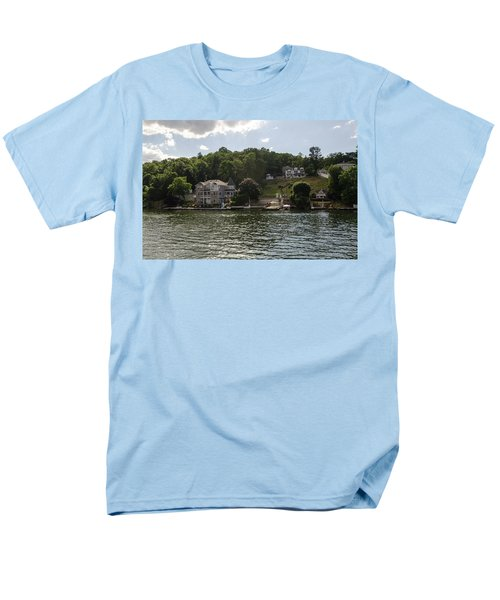 Men's T-Shirt  (Regular Fit) featuring the photograph Lakeside Living Hopatcong by Maureen E Ritter