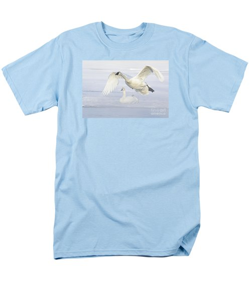 Men's T-Shirt  (Regular Fit) featuring the photograph Landing In The Cold by Larry Ricker