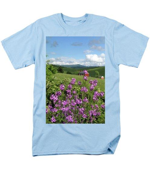 Landscape With Purple Flowers Men's T-Shirt  (Regular Fit)
