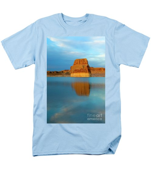 Men's T-Shirt  (Regular Fit) featuring the photograph Last Light At Lone Rock by Mike Dawson