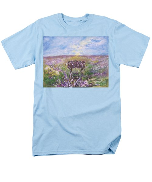 Men's T-Shirt  (Regular Fit) featuring the painting Lavendar Wishes by Leslie Allen