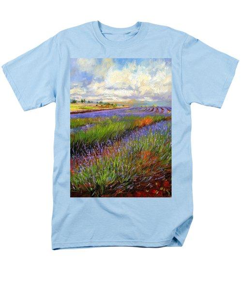 Lavender Field Men's T-Shirt  (Regular Fit) by David Stribbling