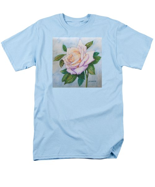 Men's T-Shirt  (Regular Fit) featuring the drawing Lavender Rose by Marna Edwards Flavell