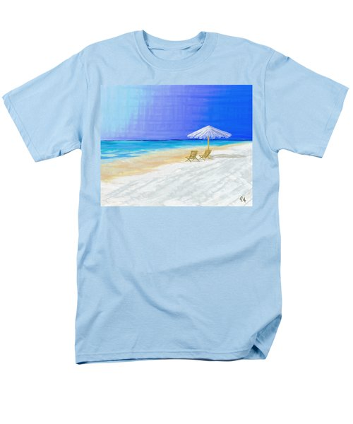 Lawn Chairs In Paradise Men's T-Shirt  (Regular Fit) by Jeremy Aiyadurai