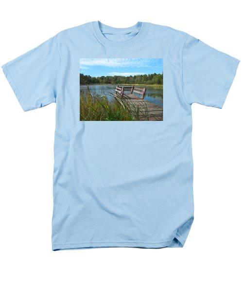 Leaning Pier At Pine Lake Men's T-Shirt  (Regular Fit) by Cedric Hampton