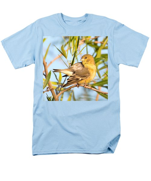 Men's T-Shirt  (Regular Fit) featuring the photograph Lesser Goldfinch by Dan McManus