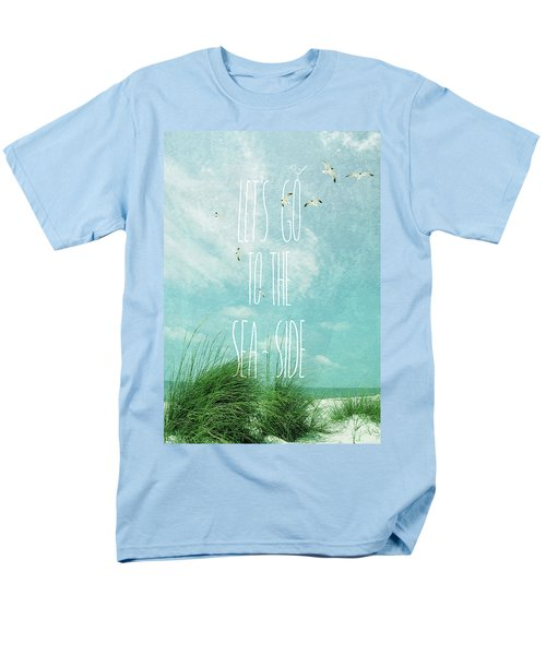 Let's Go To The Sea-side Men's T-Shirt  (Regular Fit)