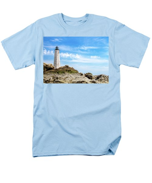 Men's T-Shirt  (Regular Fit) featuring the photograph Lighthouse And Rocks by Dawn Romine