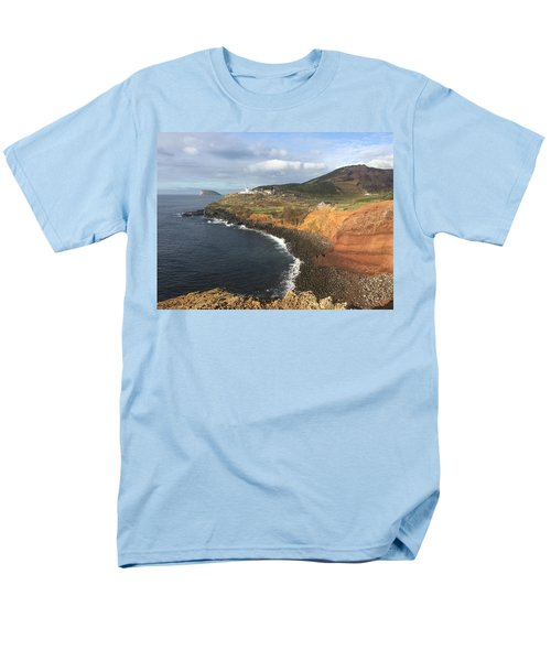 Lighthouse On The Coast Of Terceira Men's T-Shirt  (Regular Fit) by Kelly Hazel