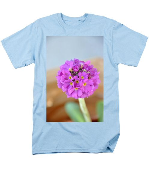 Single Pink Flower Men's T-Shirt  (Regular Fit)