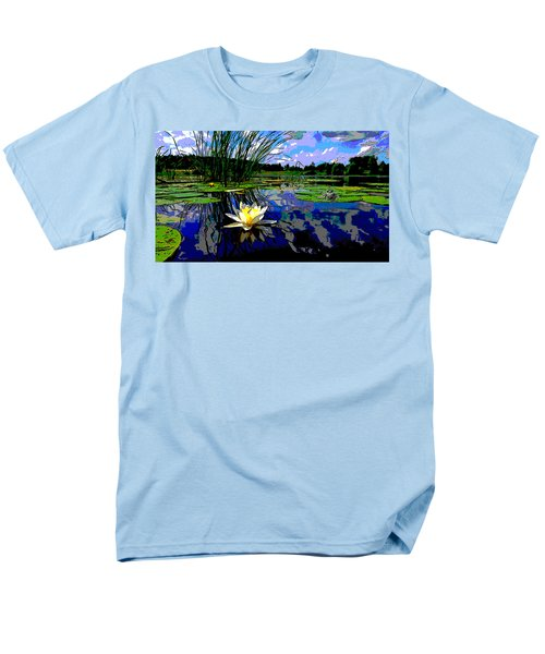 Lily Pond Men's T-Shirt  (Regular Fit) by Charles Shoup