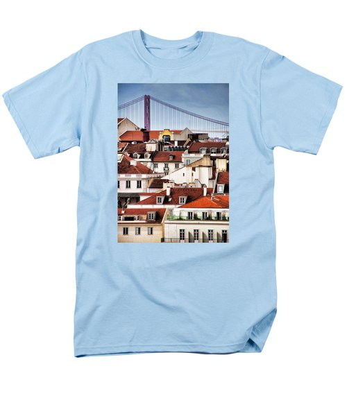 Men's T-Shirt  (Regular Fit) featuring the photograph Lisbon Rooftops by Dennis Cox WorldViews