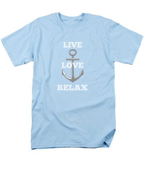 Live Love Relax - Customizable Color Men's T-Shirt  (Regular Fit) by Inspired Arts
