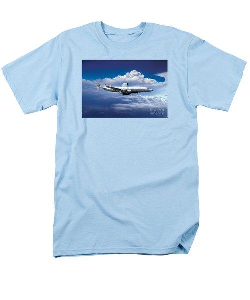 Willie Victor, Lockheed Ec-121k Warning Star In Flight Men's T-Shirt  (Regular Fit) by Wernher Krutein