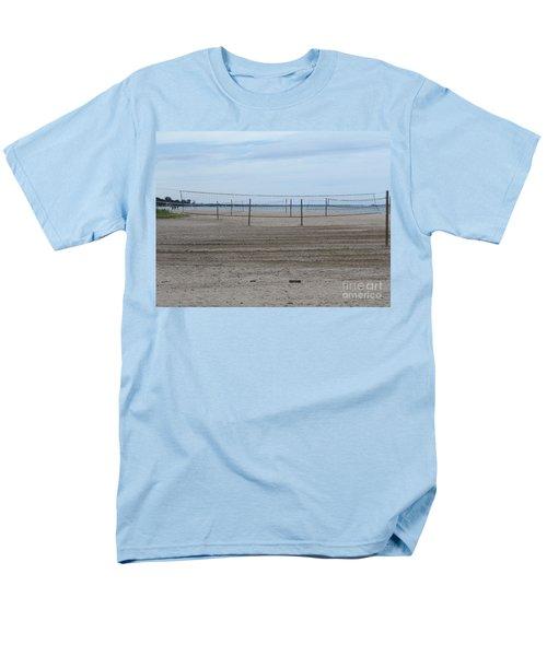 Lonely Beach Volleyball Men's T-Shirt  (Regular Fit) by Erick Schmidt