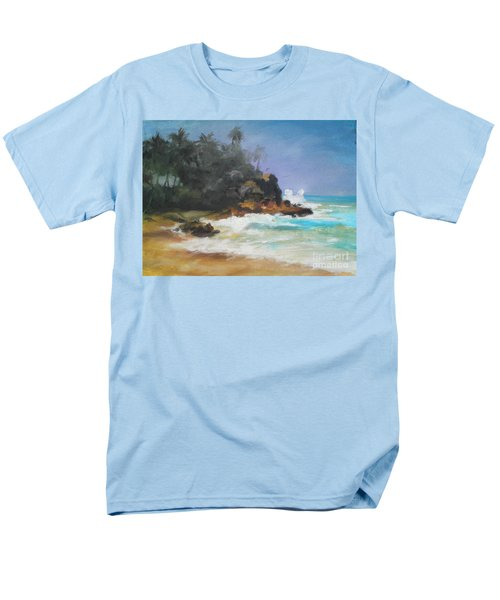 Men's T-Shirt  (Regular Fit) featuring the painting Lonely Sea by Rushan Ruzaick