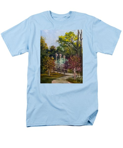 Men's T-Shirt  (Regular Fit) featuring the painting Looking Back At The Vietnam Memorial by Jim Phillips