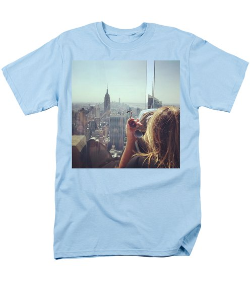 Looking Downtown In Style. #nyc Men's T-Shirt  (Regular Fit) by Missy Davis