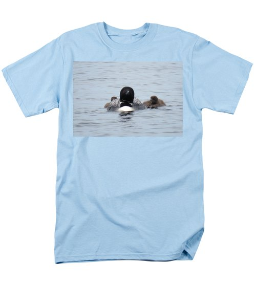 Loon With Chicks Men's T-Shirt  (Regular Fit) by Sandra LaFaut