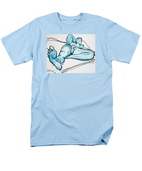 Lounging In Blue Men's T-Shirt  (Regular Fit) by Shungaboy X