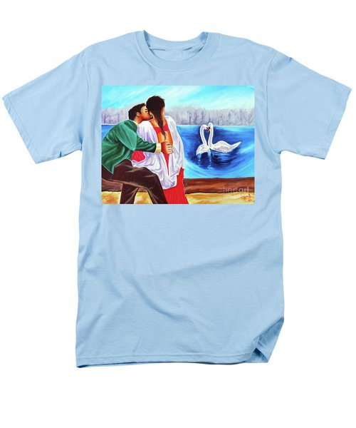 Men's T-Shirt  (Regular Fit) featuring the painting Love Undefined by Ragunath Venkatraman