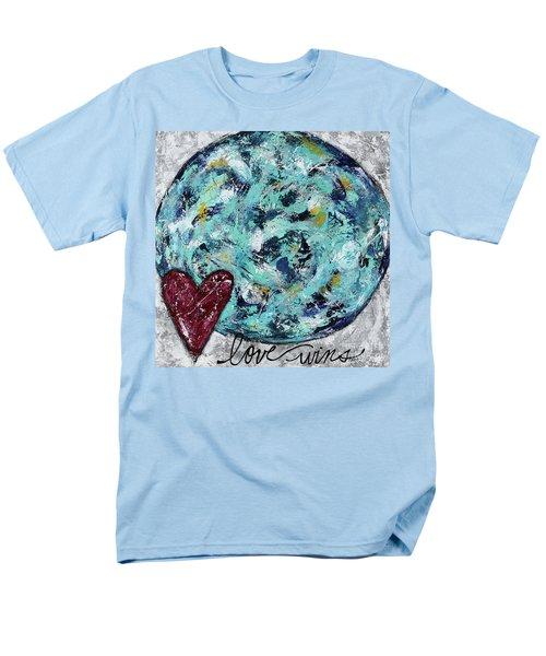 Love Wins Men's T-Shirt  (Regular Fit) by Kirsten Reed