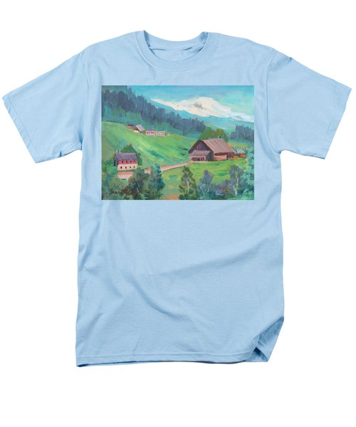 Men's T-Shirt  (Regular Fit) featuring the painting Lucerne Countryside by Diane McClary