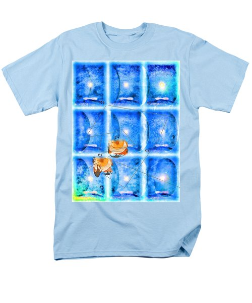 Men's T-Shirt  (Regular Fit) featuring the photograph Lunar Balance by Kathy Bassett
