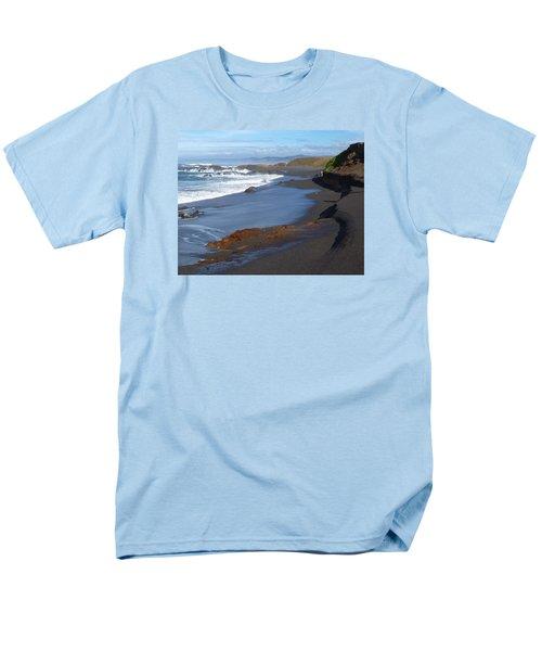 Mackerricher Beach Coastline Men's T-Shirt  (Regular Fit) by Amelia Racca