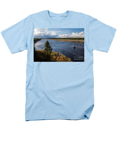 Madison River In Yellowstone National Park Men's T-Shirt  (Regular Fit) by Cindy Murphy - NightVisions