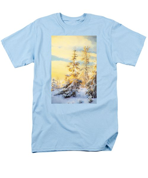 Men's T-Shirt  (Regular Fit) featuring the photograph Magical Winter Landscape by Rose-Maries Pictures