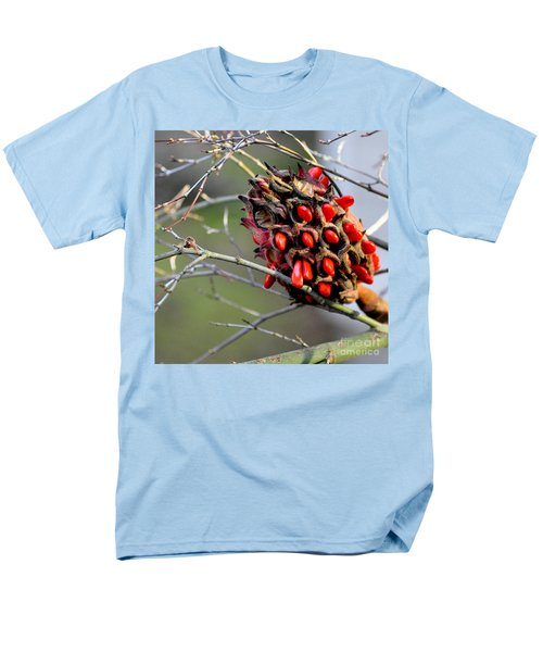 Magnolia Seedhead Men's T-Shirt  (Regular Fit) by Tanya Searcy