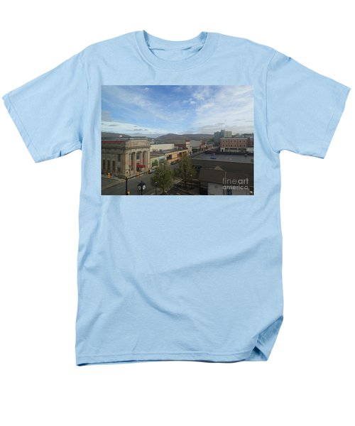 Main St To The Mountains   Men's T-Shirt  (Regular Fit) by Christina Verdgeline