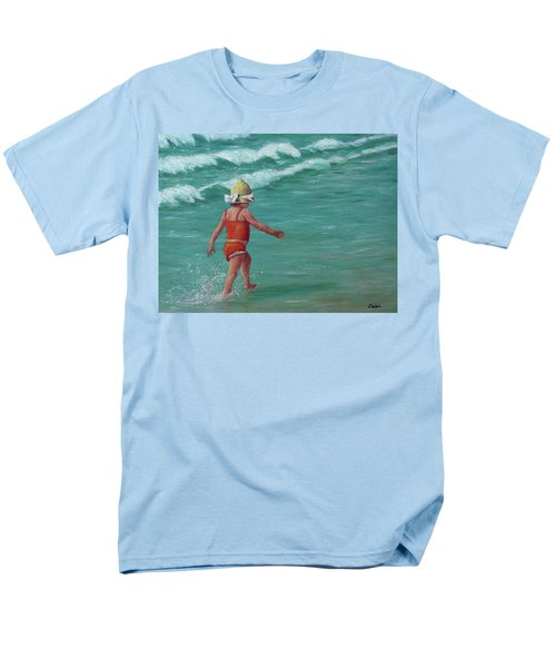Men's T-Shirt  (Regular Fit) featuring the painting Making A Splash   by Susan DeLain