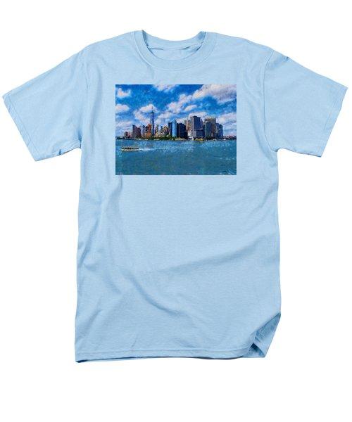 Manhattan Skyline Men's T-Shirt  (Regular Fit) by Kai Saarto