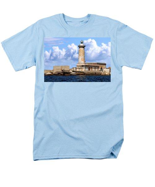 Marsala Lighthouse Men's T-Shirt  (Regular Fit) by Anthony Dezenzio