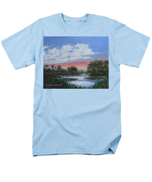 Men's T-Shirt  (Regular Fit) featuring the painting Marsh Reflections by Kathleen McDermott