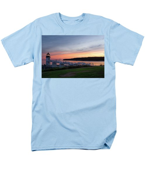 Men's T-Shirt  (Regular Fit) featuring the photograph Marshall Point Lighthouse, Port Clyde, Maine -87444 by John Bald