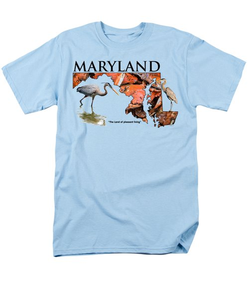 Maryland - The Land Of Pleasant Living Men's T-Shirt  (Regular Fit)