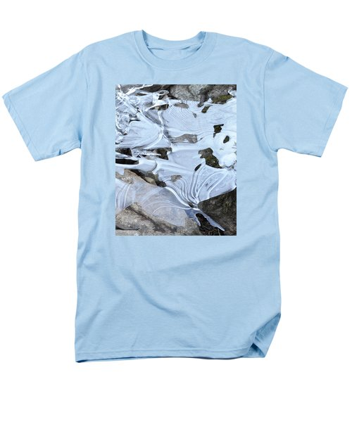 Men's T-Shirt  (Regular Fit) featuring the photograph Ice Mask Abstract by Glenn Gordon