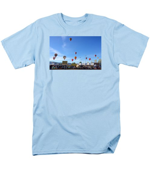 Men's T-Shirt  (Regular Fit) featuring the photograph Mass Ascension Taos Balloon Festival by Brenda Pressnall