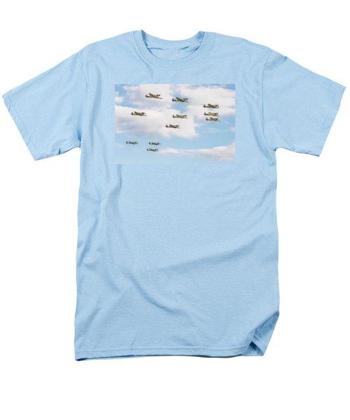 Massed Spitfires Men's T-Shirt  (Regular Fit) by Gary Eason