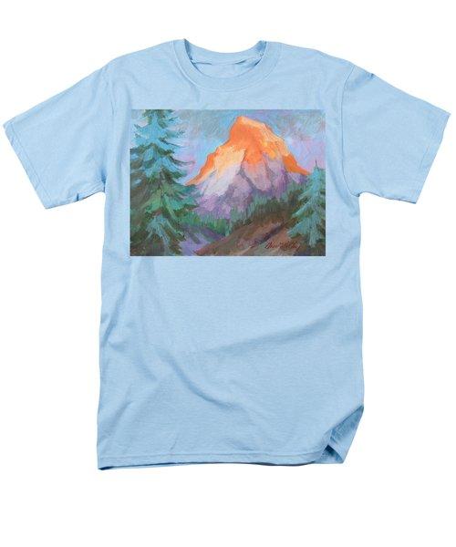Men's T-Shirt  (Regular Fit) featuring the painting Matterhorn Sunrise by Diane McClary