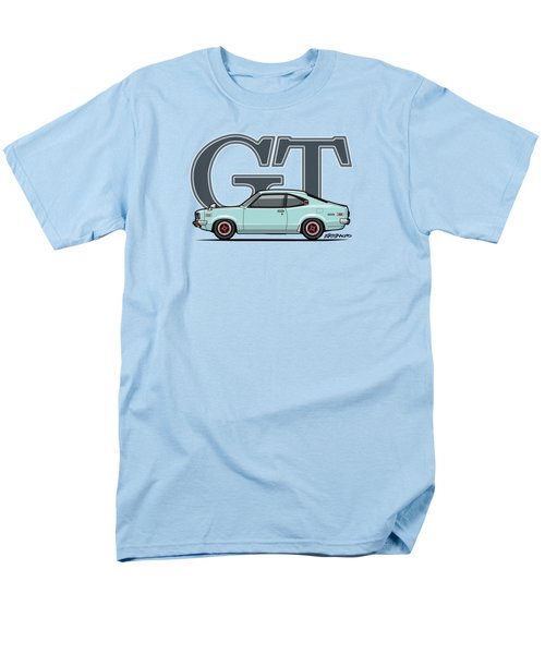 Mazda Savanna Gt Rx-3 Baby Blue Men's T-Shirt  (Regular Fit) by Monkey Crisis On Mars