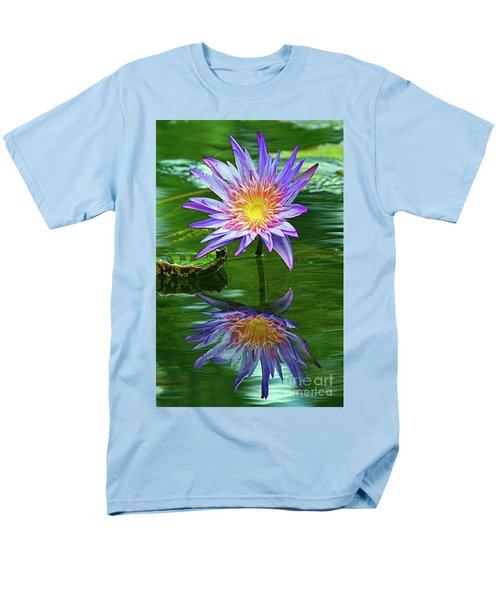 Mckee Water Lily Men's T-Shirt  (Regular Fit) by Larry Nieland