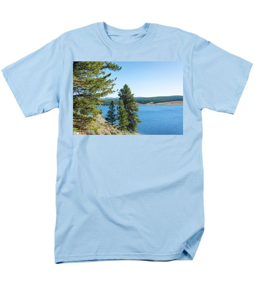 Meadowlark Lake And Trees Men's T-Shirt  (Regular Fit) by Jess Kraft