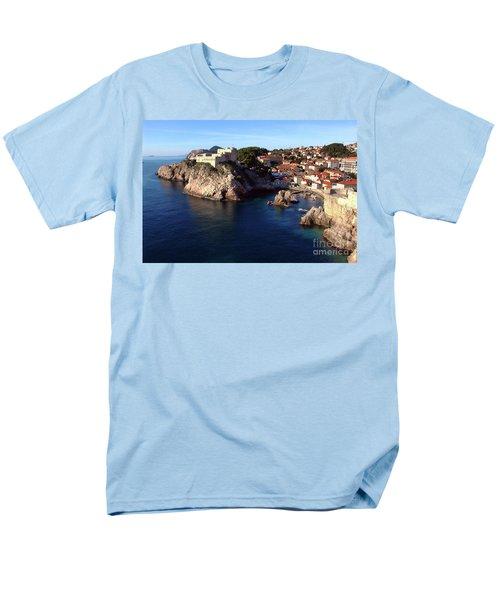 Medieval Fortresses Lovrijenac And Bokar Dubrovnik Men's T-Shirt  (Regular Fit) by Jasna Dragun