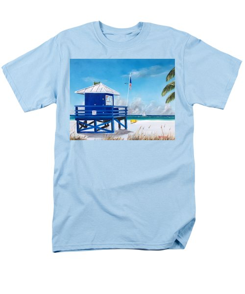 Meet At Blue Lifeguard Men's T-Shirt  (Regular Fit) by Lloyd Dobson
