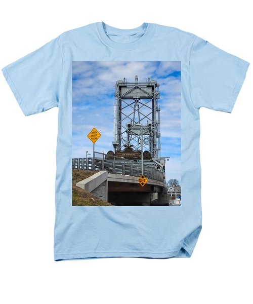 Memorial Bridge Portsmouth  Nh Men's T-Shirt  (Regular Fit) by Nancy De Flon