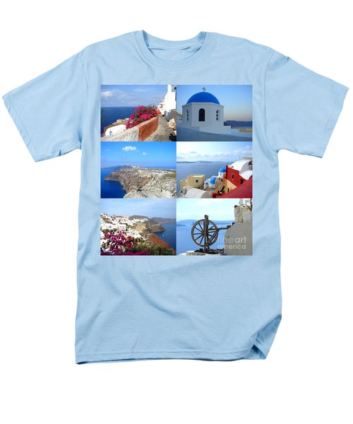 Men's T-Shirt  (Regular Fit) featuring the photograph Memories From Santorini by Ana Maria Edulescu